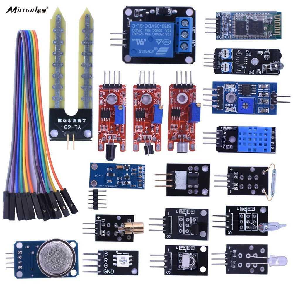 Miroad 20 in 1 Sensor Modules Kit Starter Kit with <font><b>Hc06</b></font> <font><b>Bluetooth</b></font> for Arduino UNO R3 Mega2560 Mega328 Nano KY63