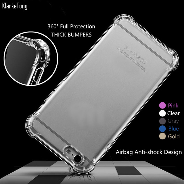 new style 9f82b f3af6 US $2.27 9% OFF|Transparent 3D Shockproof Thick Phone Cases Cover for  iPhone 6 6s / 6Plus 6s plus Colorful Silicone Case-in Half-wrapped Case  from ...