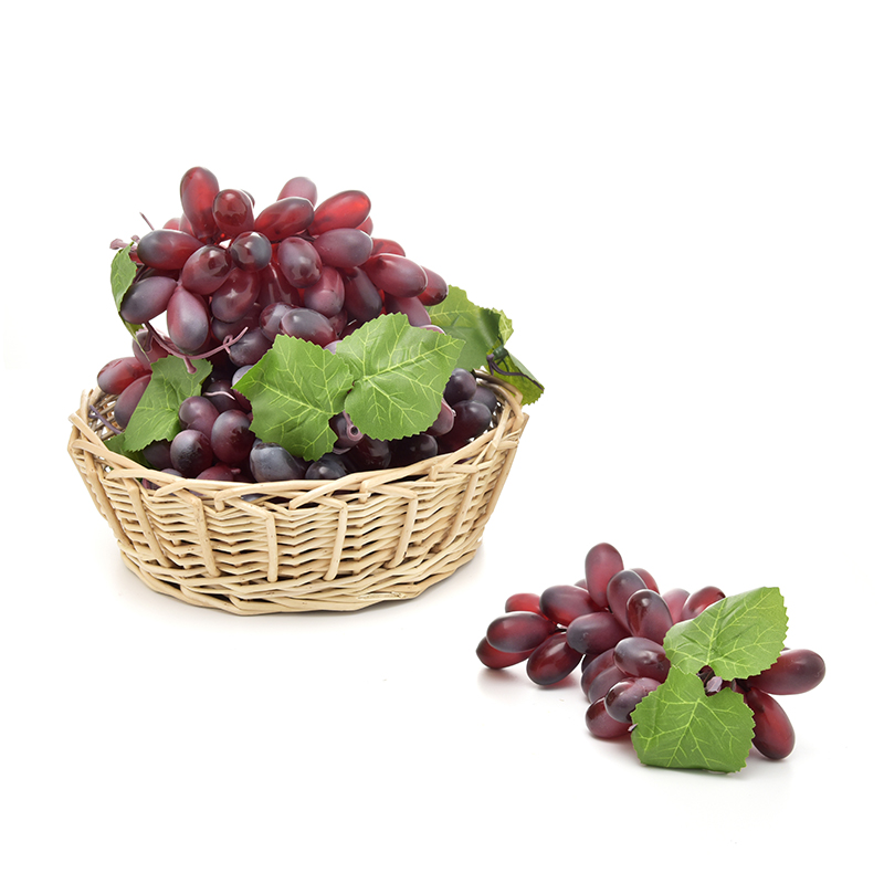 Simulation Fruits PU 36 Grain Grapes Kitchen Toys for Children Kids Pretend Play Toys Home Wedding Party Garden Decor