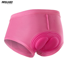 ARSUXEO Women Cycling Shorts Gel 3D Padded MTB Mountain Bike Underwear Compression Breathable