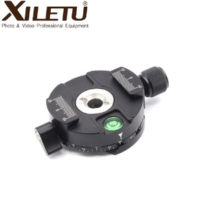 Image 4 - XILETU XPC 60C 360 Degree Panoramic Clamp Aluminum Alloy Adapter Quick Release Plate Tripod DSLR Photography Accessory