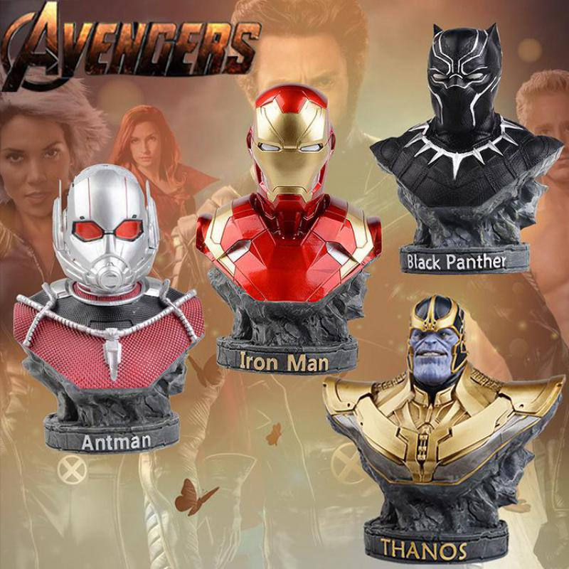 1pcs Marvel Avengers Infinity War Thanos Iro Man Antman Black Panther Action Figure Toy Superhero Collection Model Doll For Gift marvel avengers statues ironman ant man thanos black panther action figure home decoration gift ant man antman iron man statue