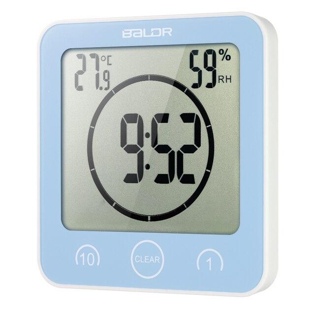 bffe21842999 Reloj de pared Digital LCD reloj de baño Digital Reloj de ducha a prueba de  agua