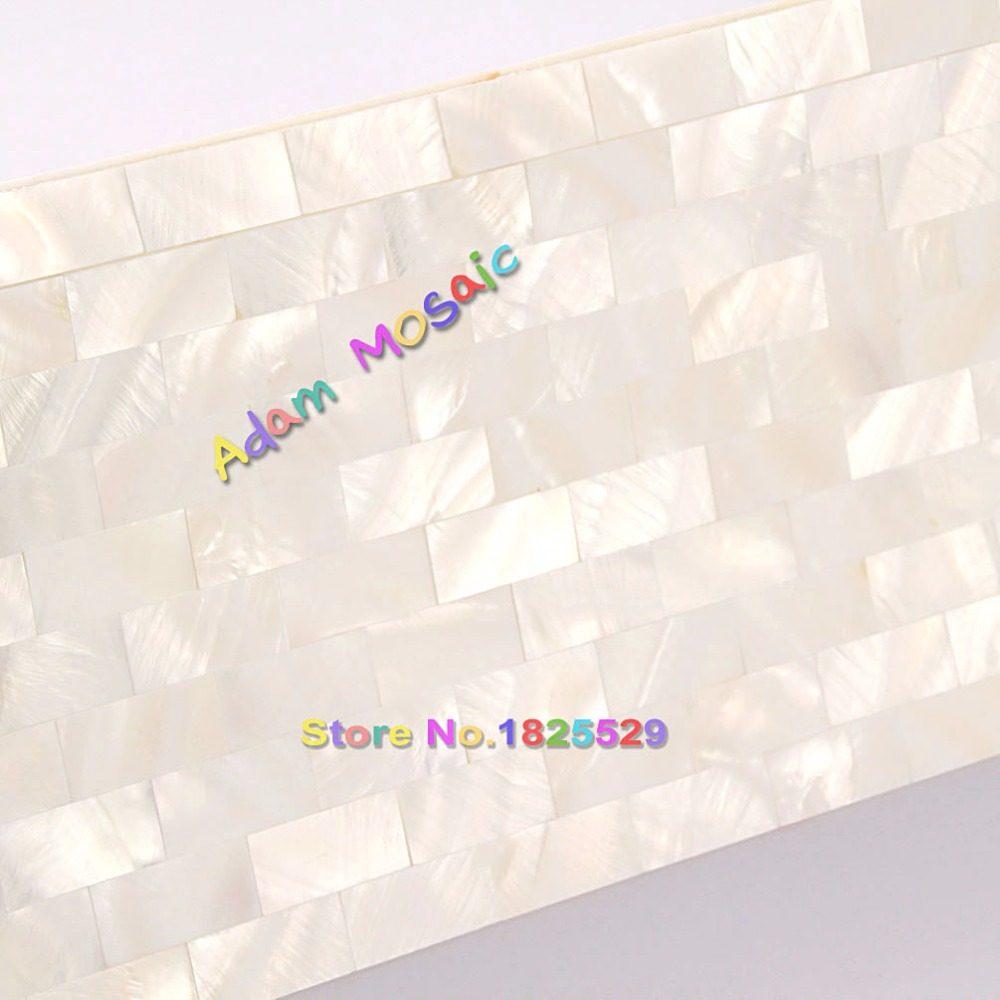 Online Shop 11 STÜCKE Weiß Hexagon Shell Mosaik Fliesen Perlmutt .