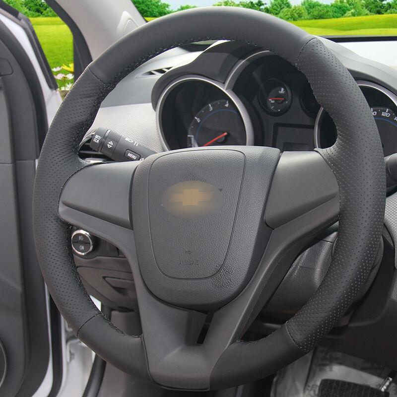 Chevrolet Cruze Aveo üçün BANNIS Qara Süni Dəri DIY Əl ilə - Avtomobil daxili aksesuarları - Fotoqrafiya 6