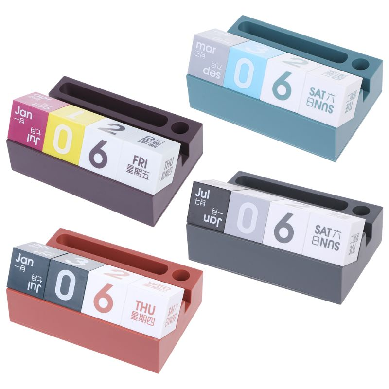 1 Stück Desktop Kalender Block Stift Telefon Halter Stehen Organizer Büro Schule Liefert Neue Design Senility VerzöGern