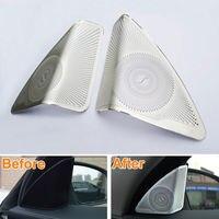 Car Inner Upper Door Stereo Tweeter Loundspeaker Trim Cover For Mercedes Benz C Class W205 C180