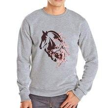 bce83ae82311 Flower horse beautiful hoodies mens brand new winter hoodie casual spring  streetwear hip hop outwear harajuku