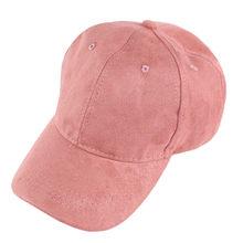 33e9e5ae7b7f 2018 Fashion Retro Vintage Suede Baseball Cap Dad Hats For Men Women Bones  Hip Hop Boys Full Trucker Cap Polo Caps Pink Hat