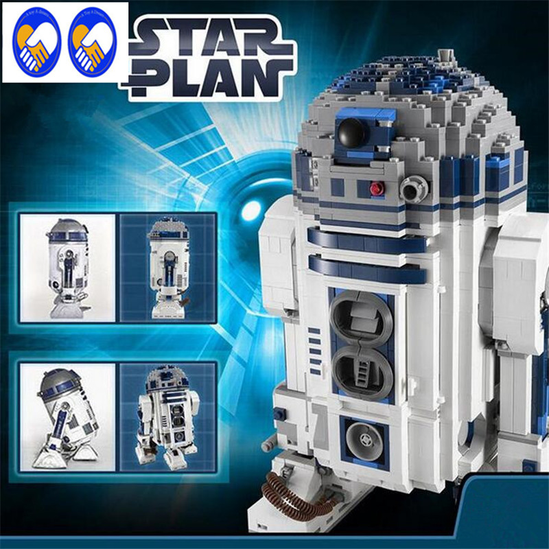 A Toy A Dream Lepin 05043 Star Wars R2-D2 building bricks blocks Toys for children boys Game Weapon Compatible with Decool 10225 lepin 22001 imperial flagship building bricks blocks toys for children boys game model car gift compatible with bela decool10210