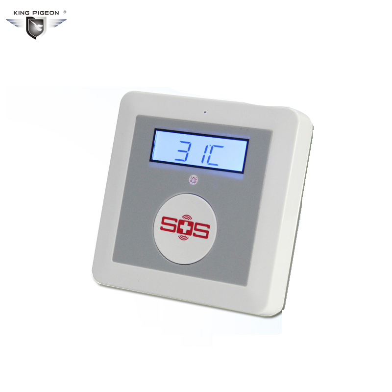 GSM Home Alarm System SOS Call Elderly Care Alarm Home Safety Security Equips LCD Temperature Detector Big SOS Button K3 yobangsecurity wireless gsm sms senior telecare home security alarm system with sos call for elderly care mobile phone control