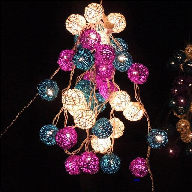 """קונמינג בן מסחרי צבע chinlon 35 ראשון 6 ס""""מ חג המולד קישוט אורות led נצנץ אור סגול גן"""