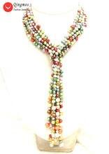 Женское Ожерелье из натурального жемчуга 6 7 мм 3 нити