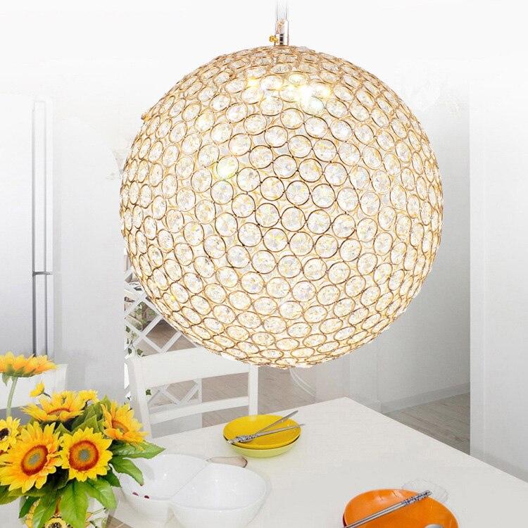 купить Minimalist Drop pendant light Lamp luxury hotel restaurant bar ball crystal Pendant Lights Round Ball Crystal Pendant Lamps по цене 2716.5 рублей