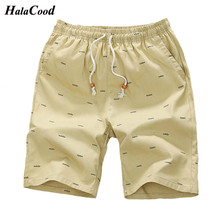 2018 New Arrival Men Shorts Cotton Casual Shorts For Men Elastic Waist Summer Beach Shorts Personalized Printed High Quality 5XL