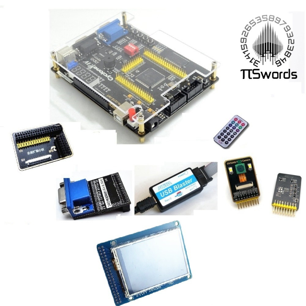 ALTERA Cyclone IV EP4CE6 FPGA Development Kit Altera EP4CE NIOSII FPGA Board and USB Blaster downloader