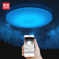 Modern LED Ceiling Light 25W RGB Smart Remote Control Dimmable Color Changing Lamp For Livingroom Bedroom AC165 265V