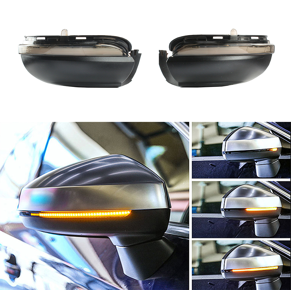 Dynamic Sequential LED Smoked Left Right Mirror Turn Signal Lamp For VW GOLF GTI MK6 2009