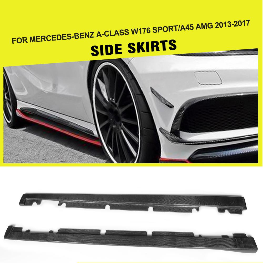 Car styling carbon fiber car side skirts for benz a class a250 w176 a45