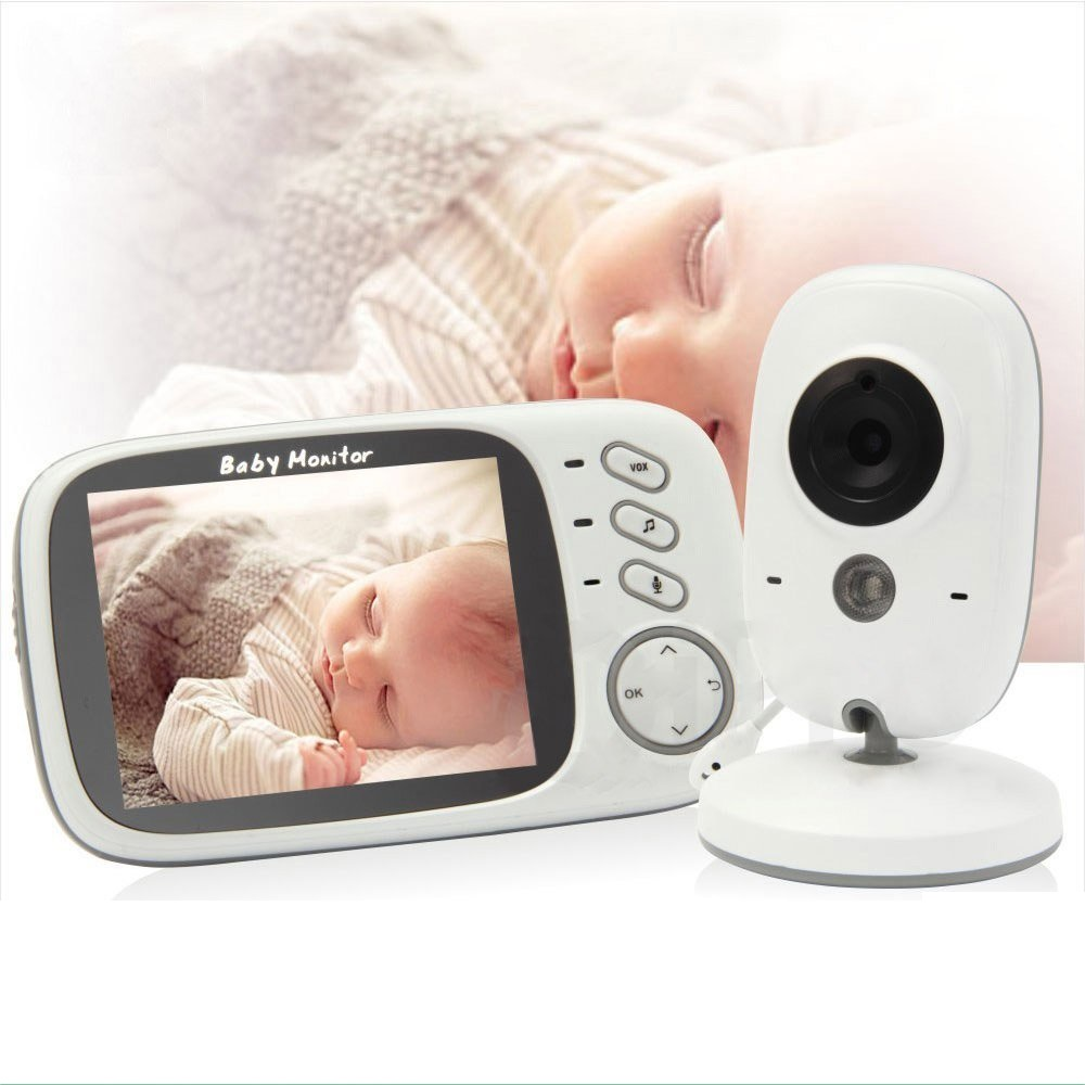 babykam bebek telsizi babyfoon camera nanny 3.2 inch IR Night Vision Intercom Temperature Sensor Lullabies bebek kamera monitor