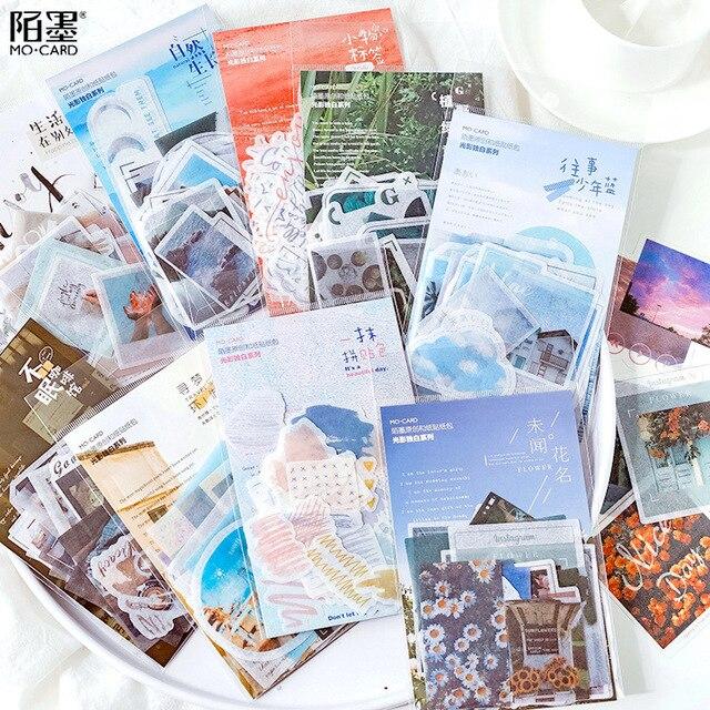 Mohamm diario paquetes de papel estacionario japonés personalizado decorativo fotografía pegatina copos Scrapbooking