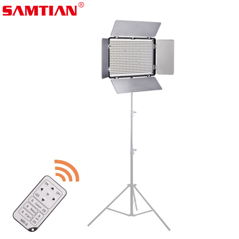 SAMTIAN 600 LED Video Light 4680LM 36W 3200K/5500K Color Temperature Adjustable Photographic Lighting with Remote Control