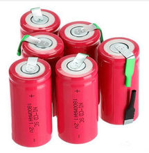 SC 18650 bateria bateria subc akumulator akumulator nicd wymiana 1.2 v akumulator 1800 mah power bank