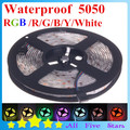 Waterproof 5050 RGB LED Strip 5050 Flexible Tape 300leds/5M 5050 RGB LED Ribbon Free Shipping