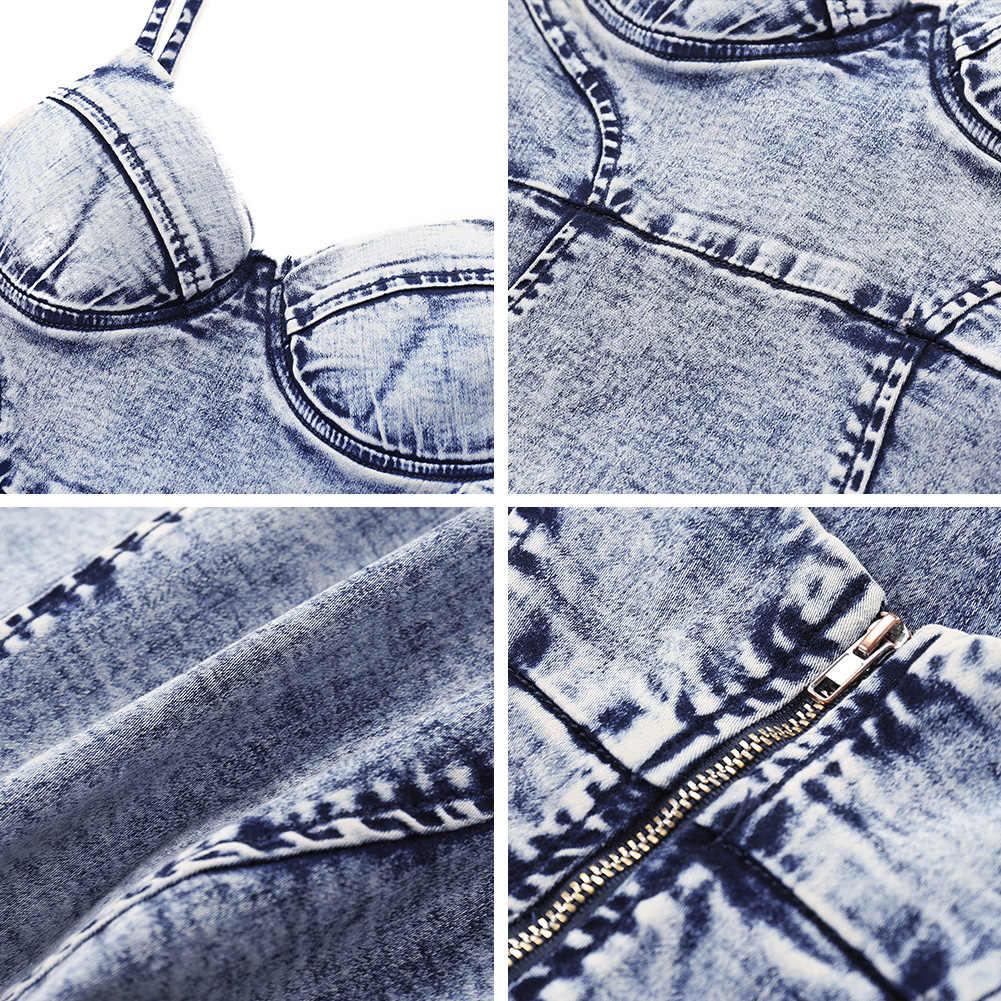 2019 Новое модное сексуальное женское джинсовое платье-комбинация с открытой спиной на бретельках vestido без рукавов, однотонное облегающее женское мини-платье голубого цвета