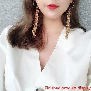 Image 5 - 5 mt/los Kupfer Messing Gold Überzogene Metall Blatt Ketten Quasten Für Hand Halskette Ohrringe Schmuck Handwerk, Die Diy Zubehör