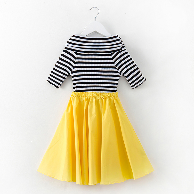 little girl summer dress cotton 2018 new fashion bodycon dress 6 years to 12 years toddler girl summer clothes size14 size 12 trendy striped bodycon midi dress