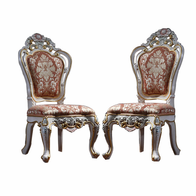 High Quality European Classical French Garden Chairs Palace Furniture Ensemble Dedicated Luxury  Chairs