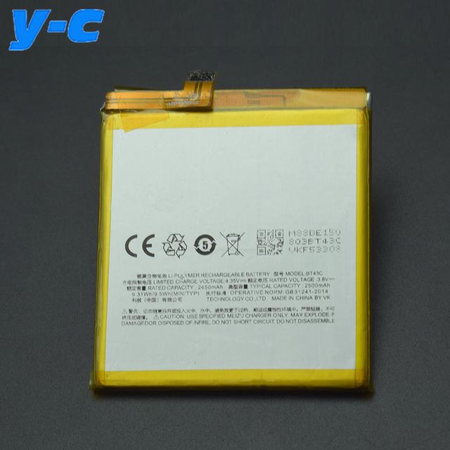 Para meizu m2 mini bt43c 100% nova 2450 mah substituição de backup bateria batterij bateria para meizu m2 mini telefone móvel