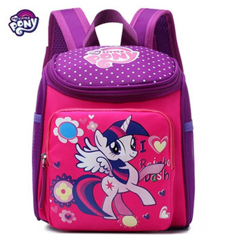 My Little Pony backpack children's cartoon Twilight Sparkle kindergarten bag baby girls boys princess Frozen Spiderman  backpack футболка wearcraft premium slim fit printio my little pony twilight sparkle искорка