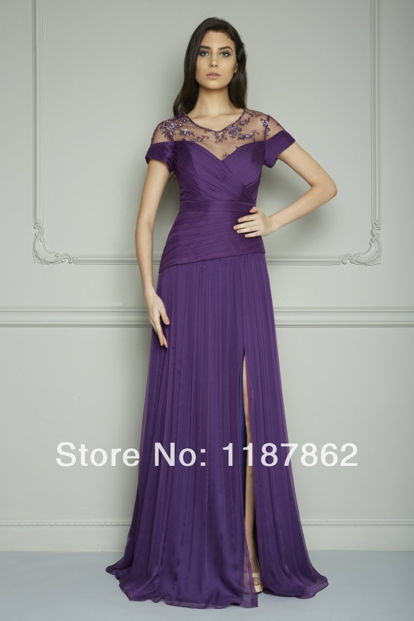 ED 0159 Special Occasion Dresses Evening Dress for Fat Women Summer Dress  Fashion 2014 Purple Dress-in Evening Dresses from Weddings   Events on ... 1488ee4507f3