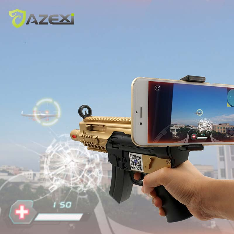Newest Style VR Game Gun for kids Gun with shoot games Bluetooth AR-Gun Suitable for Android iOS iPhone Phones коврики 3d в салон novline ford tourneo custom 1 2 seats transit custom 1 2 seats 2013 2014 полиуретан 2 шт nlc 3d 16 53 210kf