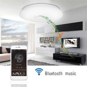 Image 2 - 48 ワットシーリングライト調光対応音楽bluetoothスピーカーダウンランプアプリのリモコンと音声制御マルチカラーAC110 260V屋内寝室