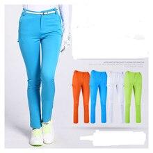 2017 Nouvelles Femmes de Pantalon De Golf Vêtements Élastique Mince Pantalon Balle Tee