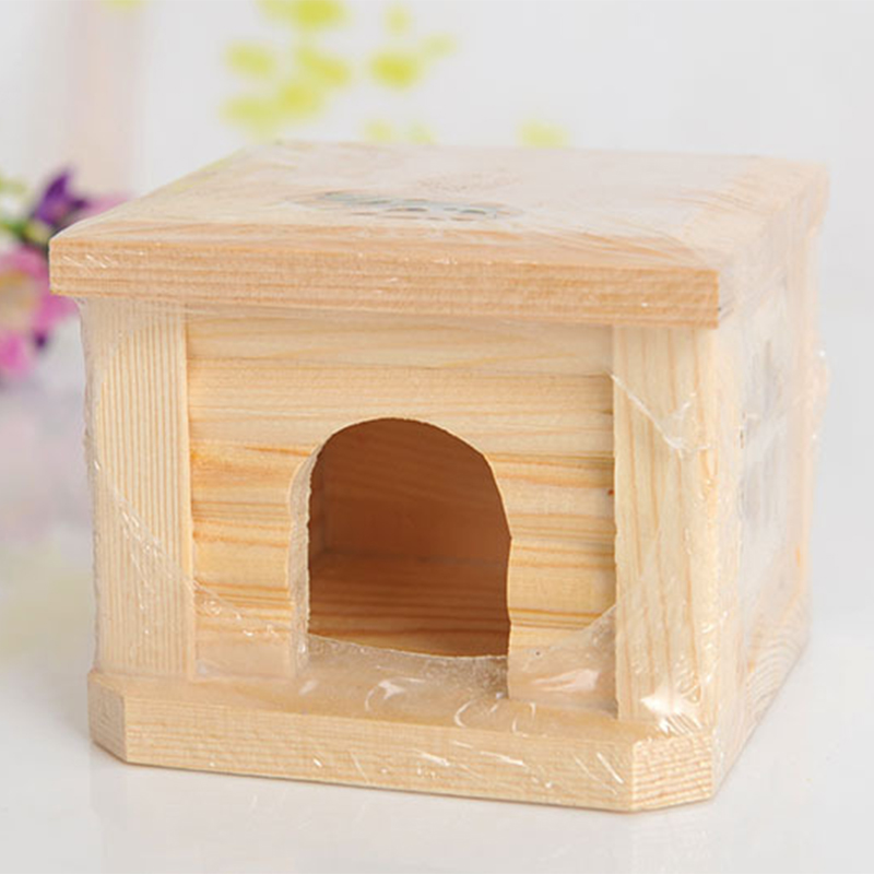 Mini Small Pet Wooden House CageWinter Windproof and Warm Nest Cave for Mouse Hamster Squirrel Baby Case Animals Accessories