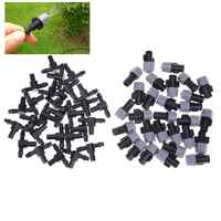 30pcs Mist Spray Sprinklers + Tees Connector Nozzles Irrigation Water Control Sprayer Drip Irrigation Garden Mist Sprinker