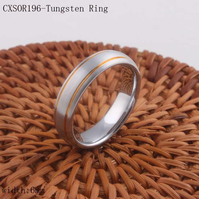 2016 Newest Tungsten Ring IP Gold Plated Tungsten Wedding Ring For Women Nice Ring