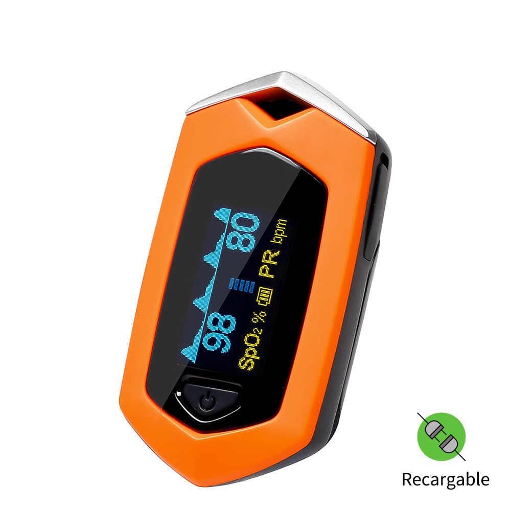 Yongrow Medical Family Finger Pulse Oximeter Blood Oxygen Saturation SPO2  Pediatric Pulse Oximeter Rechargeable