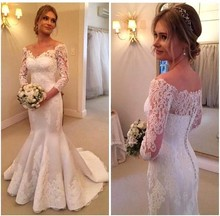 White Boho Wedding Dresses with Sleeves Sexy V-Neck Vestido de Novia Sheer Lace Robe de Novia Longo Bridal Gowns for Womens 2017