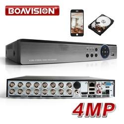 16CH AHD DVR 4MP Гибридный 8*4 Мп + 8 * IP 4MP 5 в 1 AHD TVI CVI CVBS IP камеры видеонаблюдения DVR H.264 + кодирования Onvif для AHD CCTV Камера