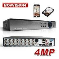 16CH AHD DVR Híbrido 4MP 8*4MP + 4MP 5 Em 1 8 * IP CVI TVI AHD CVBS IP Onvif Segurança CCTV DVR H.264 + Codificação Para AHD CCTV Camera dvr h.264 dvr cctv dvr dvr 16ch -