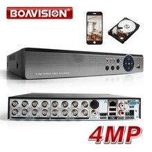 16CH AHD DVR Híbrido 4MP 8*4MP + 4MP 5 Em 1 8 * IP CVI TVI AHD CVBS IP Onvif Segurança CCTV DVR H.264 + Codificação Para AHD CCTV Camera