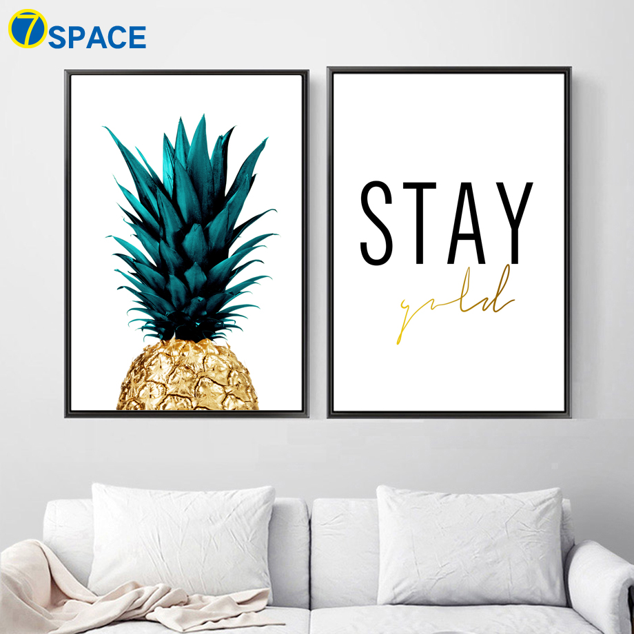 Pineapple Stay Quotes Nordic Posters And Prints Wall Art