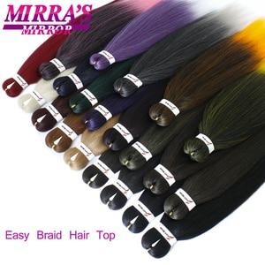 Image 2 - MirraS Mirror Pre Stretched Braiding Hair Ez Braid Hair Synthetic Crochet Braiding Hair Extensions