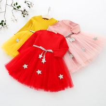 BibiCola 2018 New Princess Long sleeve Baby Girl Dress 2 Year Girl Baby Birthday Dresses Spring Autumn Baby Girl Dresses(China)