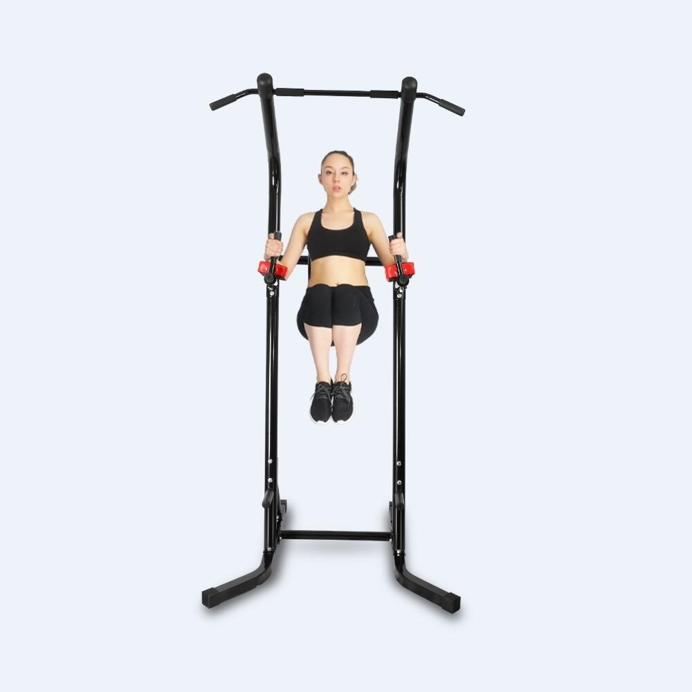Crystal Power Tower Capacity 600 Lbs Pull Up Bar Tower Dip Stands Fitness  Gym Office Crystal Fit